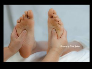 Reflexologists posit that the blockage of an energy field, invisible life force, or Qi, can prevent healing